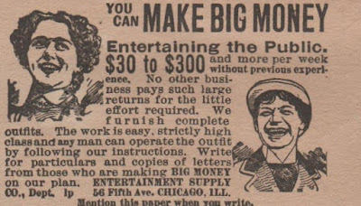 You can make big money entertaining the public