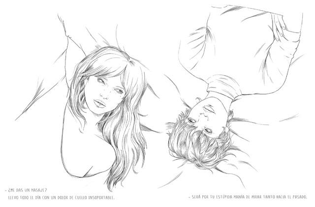 """Una página con ilustración del libro de Sara Herranz """"La Persona Incorrecta"""""""