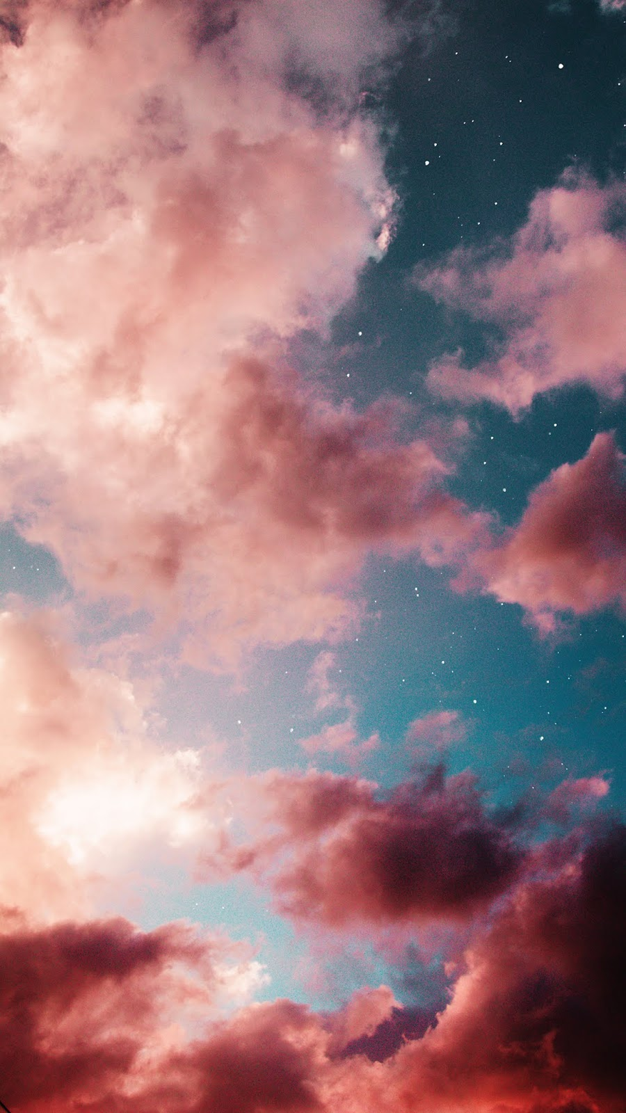 Pink clouds wallpaper