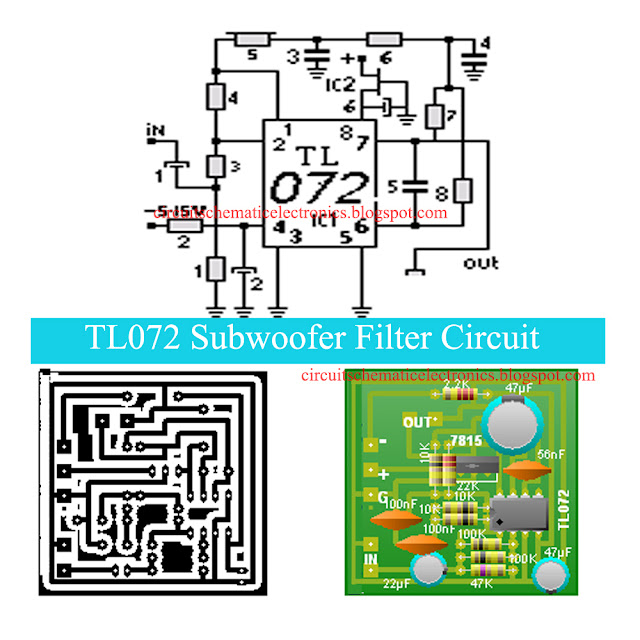 TL072 Subwoofer Filter Circuit