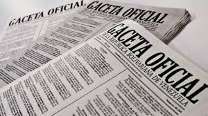 SUMARIO Gaceta Oficial N° 41.537 3 de diciembre de 2018