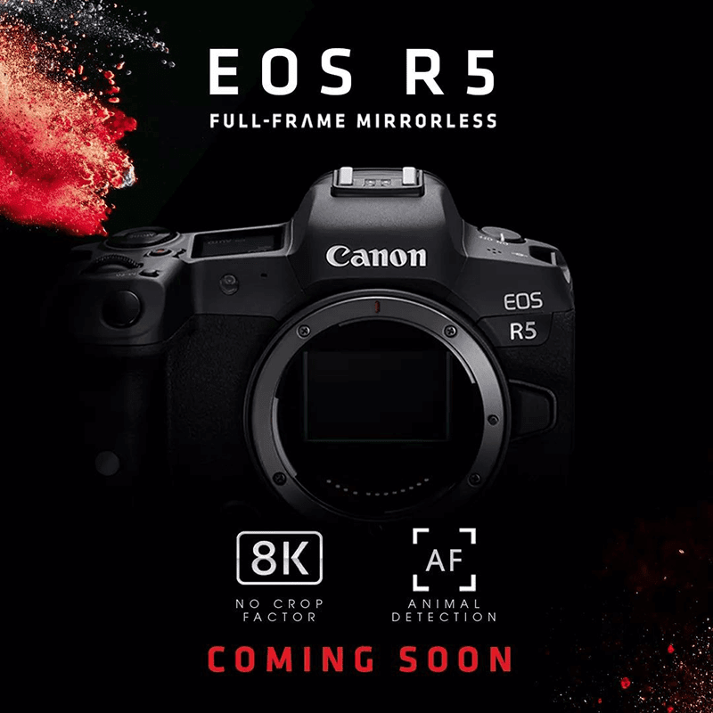 Canon EOS R5 with uncropped 8K, animal tracking AF teased in the Philippines!