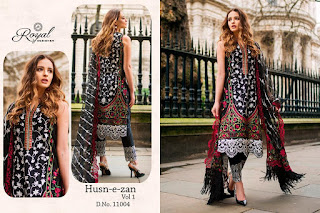 Royal Designer Husn E Zan vol 1 Cambric Pakistani Suits