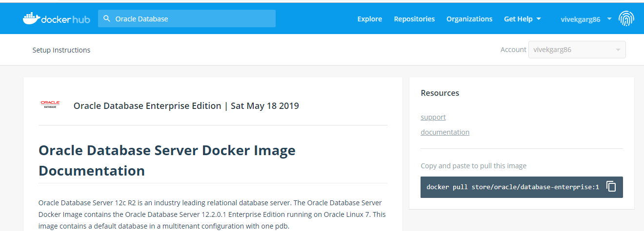 Docker- Setup Oracle Database in Docker Container - Oracle