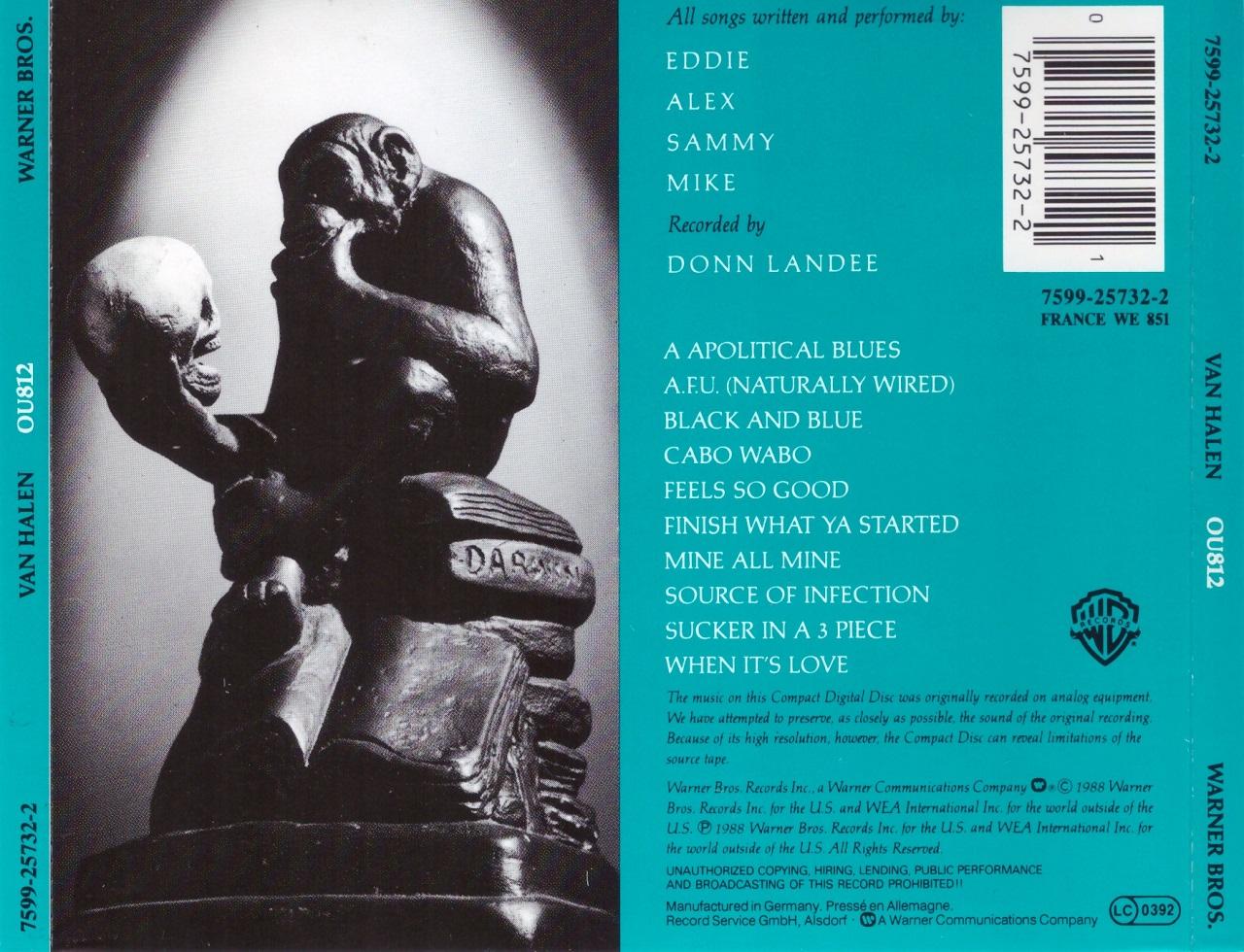 Cries From The Quiet World Van Halen Ou812