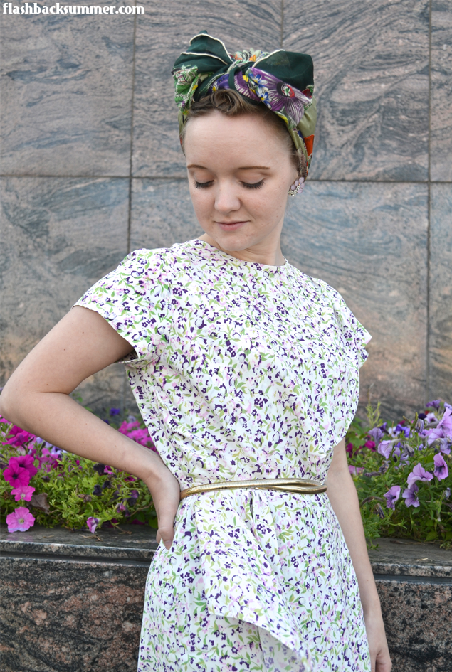 Flashback Summer: Rescued Rayon - restored 1940s dress
