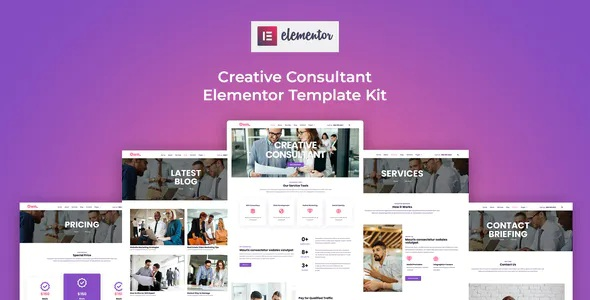 Best Creative Consultant Elementor Template Kit