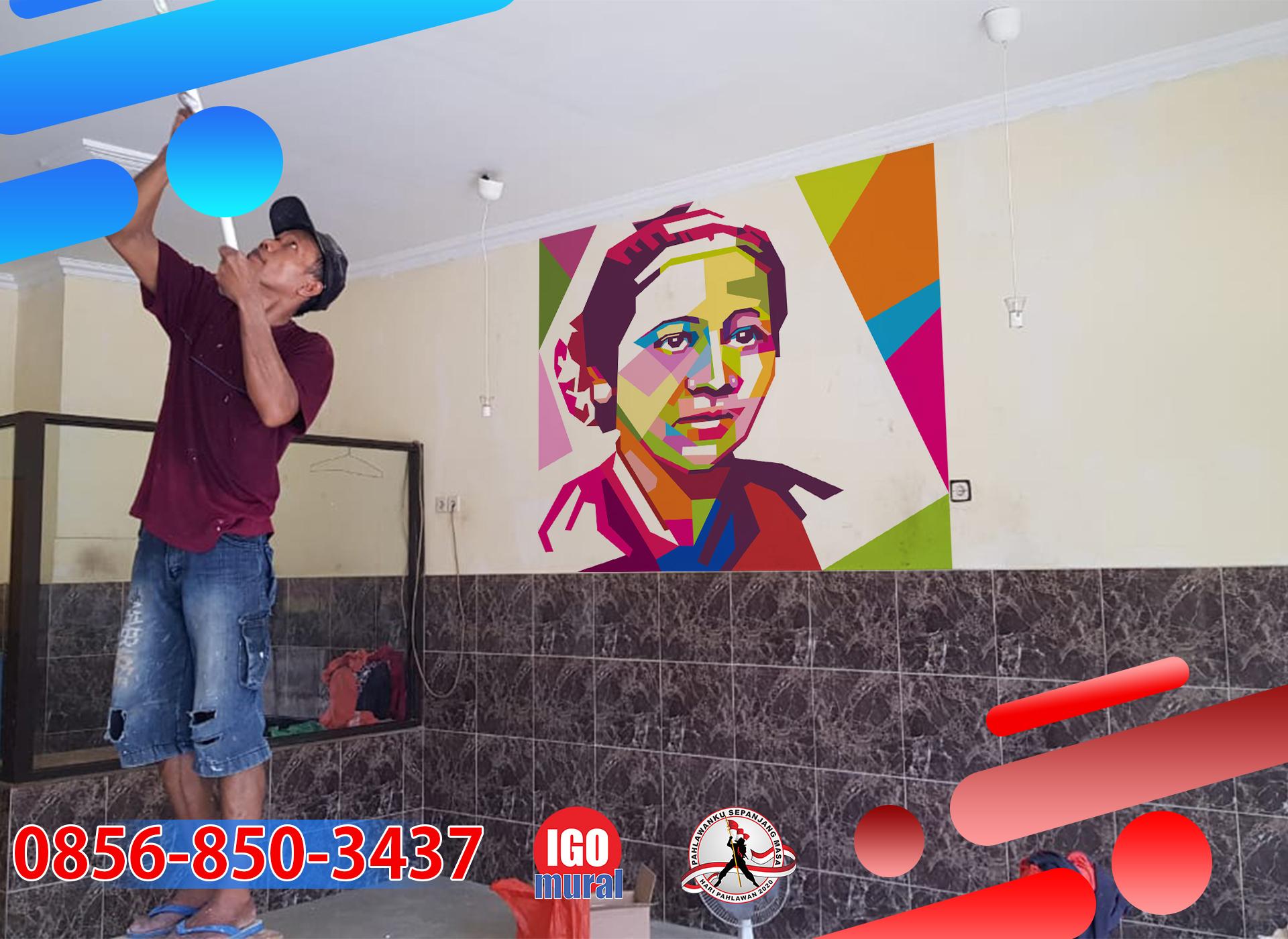 Contoh Gambar Mural Pahlawan