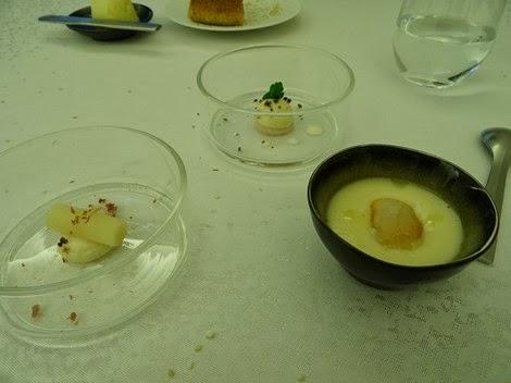 2 ème amuse bouche restaurant Sur Mesure par Thierry Marx au Mandarin Oriental.