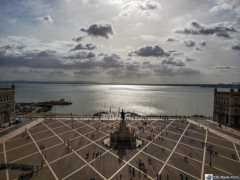Praça do Comércio vista do Arco da Rua Augusta - O que fazer em Lisboa, Portugal