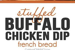 Buffalo Chicken Dip Stuffed French Bread
