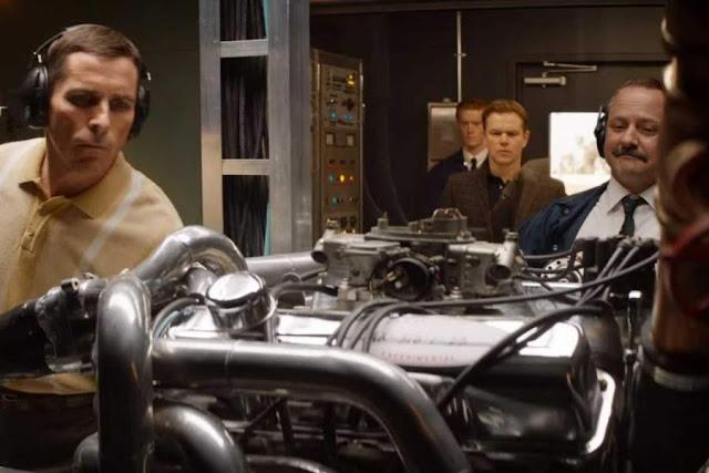 Matt Damon y  Christian Bale en 'Le Mans 66'