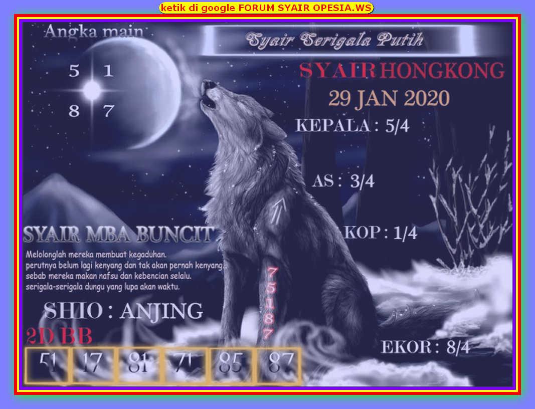 Kode syair Hongkong Rabu 29 Januari 2020 179