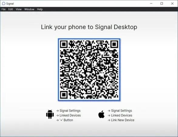 ربط واستخدام Signal على جهاز الكمبيوتر الخاص بك