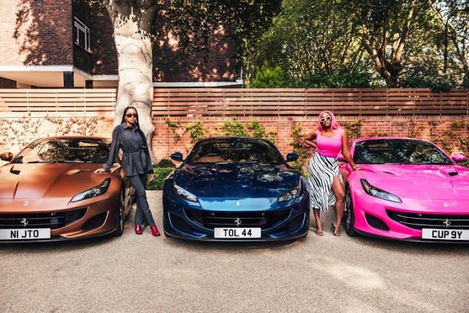 Davido reacts as Otedola splashes N300m on Ferrari cars for daughters