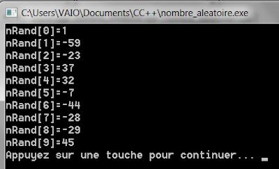 Générer nombre aléatoire en C++ fonction rand time