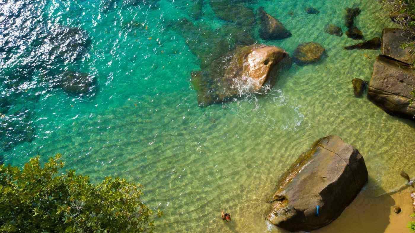 bird's eye view of seychelles beach - best tropical islands to visit