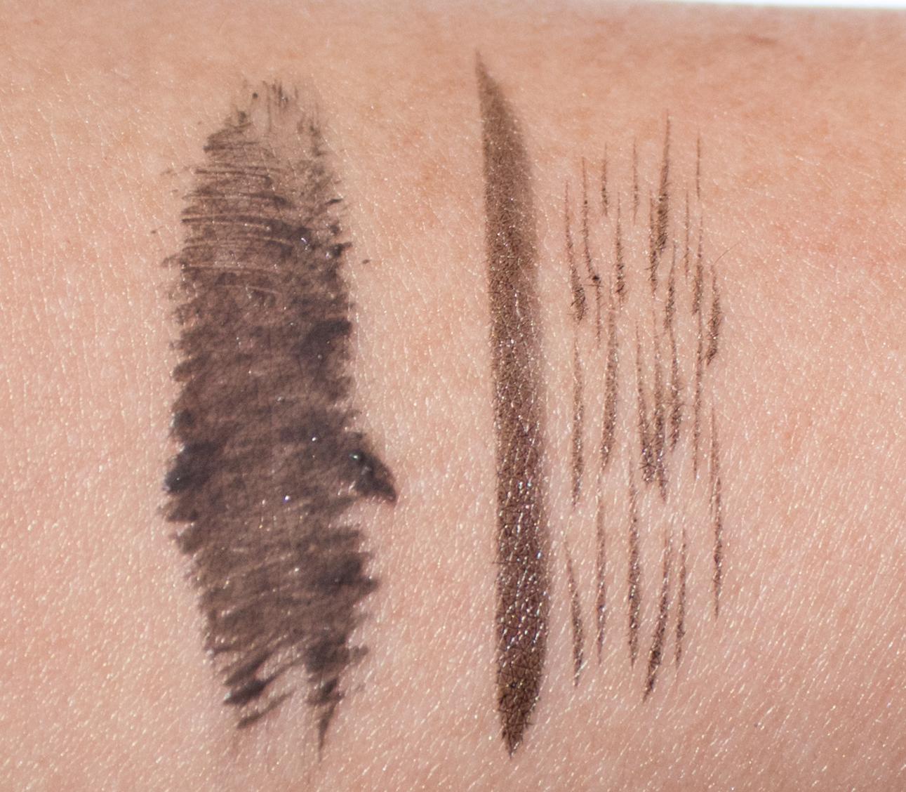 Glossier Brow Flick in Black vs. Boy Brow in Black
