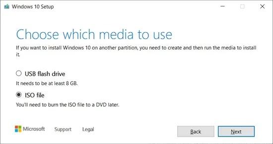 تنزيل Windows 10 ISO