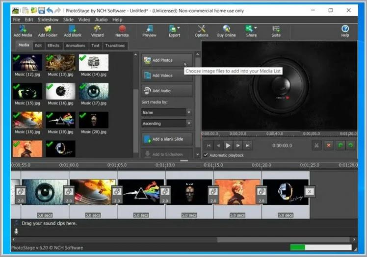 Photostage Slideshow Software : Δημιουργήστε επαγγελματικών προδιαγραφών Slideshows