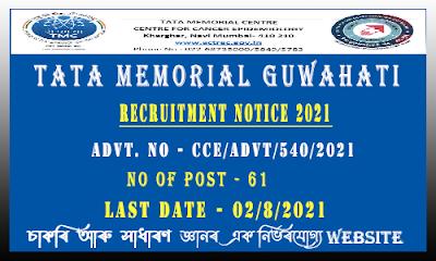 TATA Memorial Center Recruitment (61 Post)