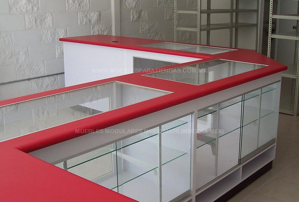 Mostradores de tiendas vitrinas para farmacias muebles for Muebles para negocio