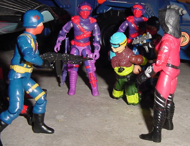 European Exclusive Slaughters Marauders Low Light, Convention Exclusive Crimson Baroness, 1992 Heli Viper, 2002, 2004 Comic Pack Cobra Officer