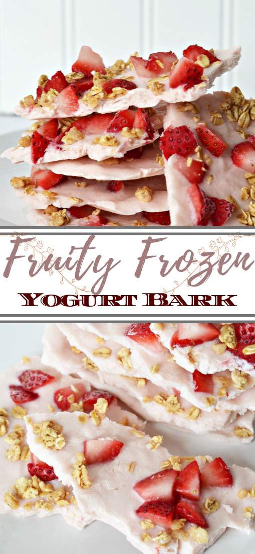 Fruity Frozen Yogurt Bark #healthyfood #dietketo #breakfast #food
