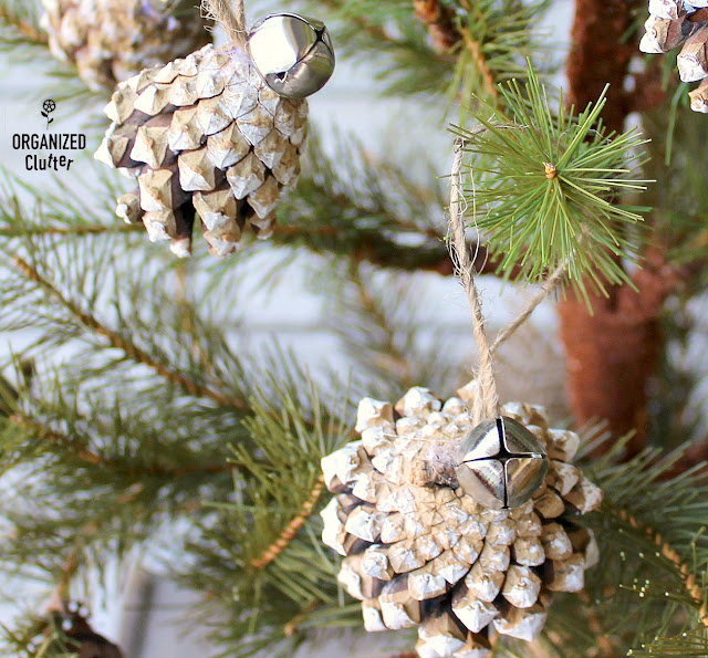 Semi-Homemade Pinecone Ornaments #DollarGeneral #Christmasdecor #Christmastreeornaments #semihomemadeornaments