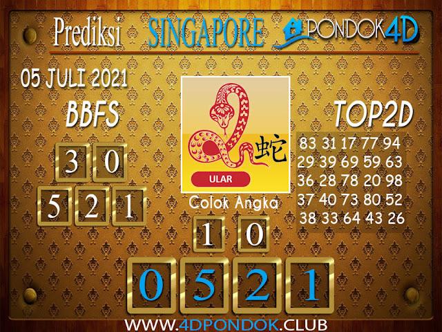 Prediksi Togel SINGAPORE PONDOK4D 05 JULI 2021