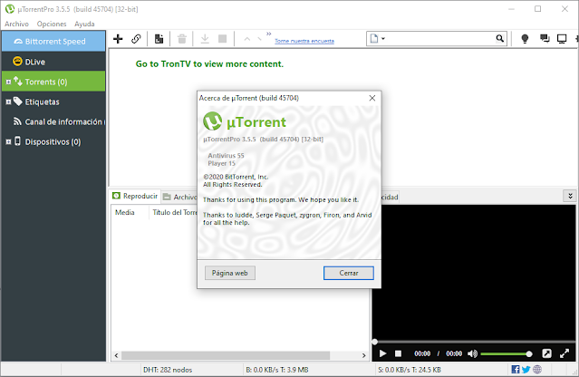 uTorrent Pro 3.5.5 build 45704 + CRACK (ACTIVADO)