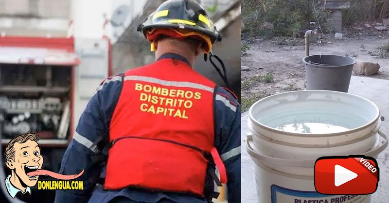 Bomberos intentaron apagar incendio en Caricuao con dos tobos de agua por falta de equipos
