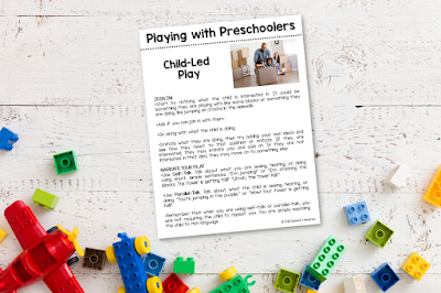 playing with preschoolers parent handout