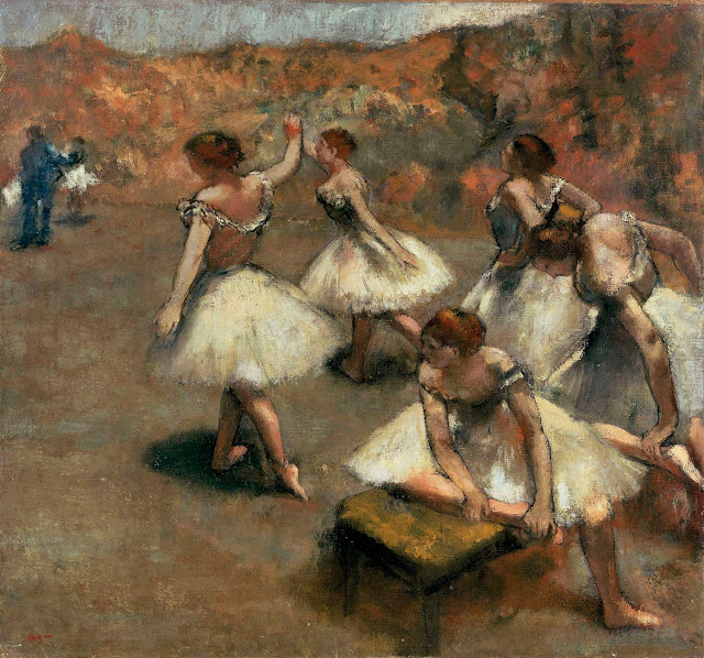 Эдгар Дега - Танцовщицы на сцене (ок.1889)