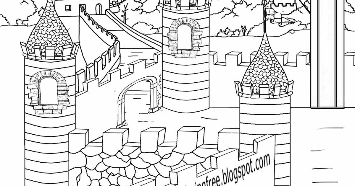 King Arthur And The Knights Of Round Table Coloring Pages