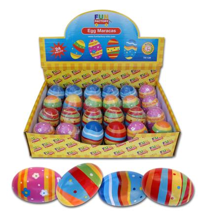 fun factory multi coloured maraca eggs