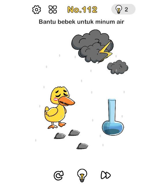 Bantu bebek untuk minum air