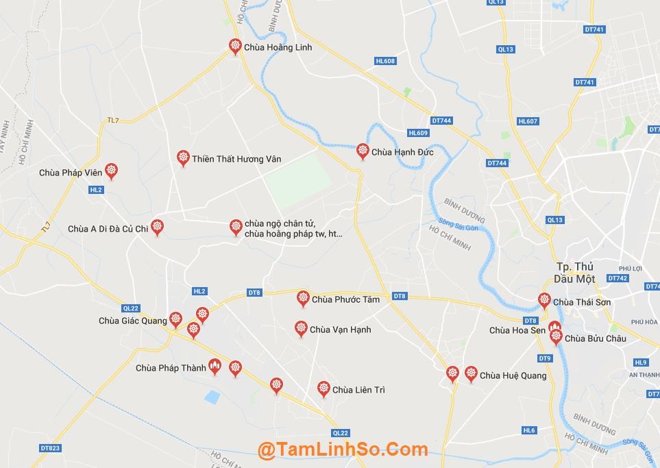 Ở Củ Chi có rất nhiều ngôi chùa nổi tiếng tại Sài Gòn