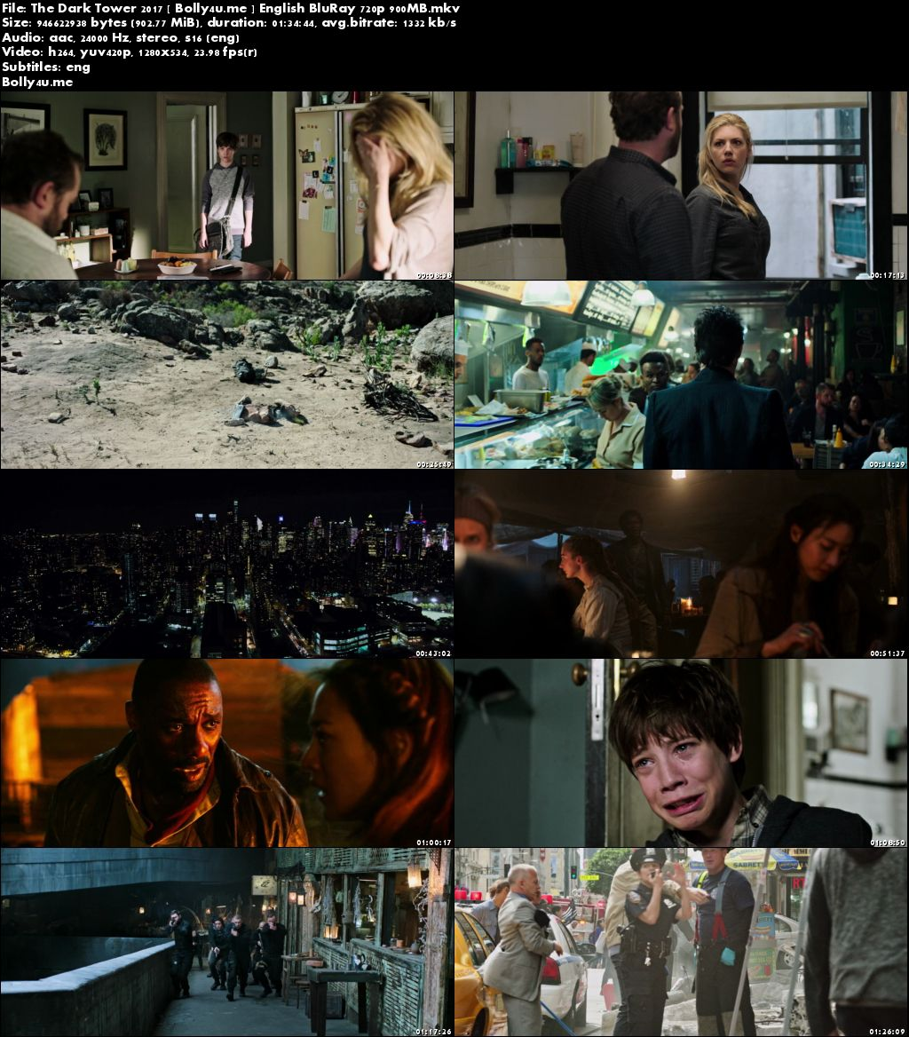 The Dark Tower 2017 BluRay 300MB English Movie 480p Download