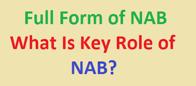 Full Form of NAB | What is Role of NAB?