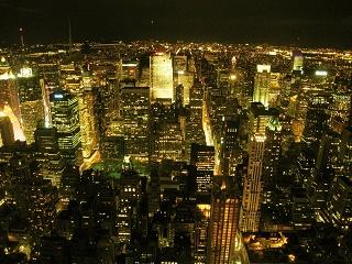 ニューヨーク夜景写真