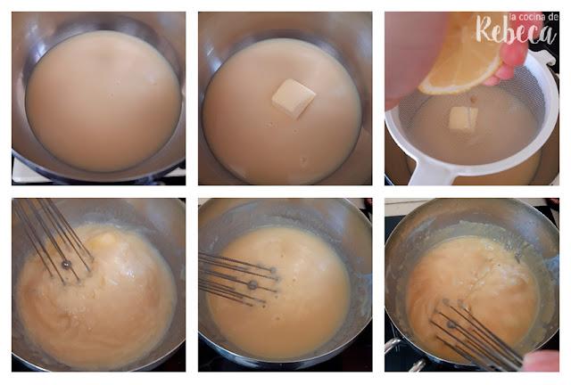 Receta de trufas crujientes de limón: la mezcla