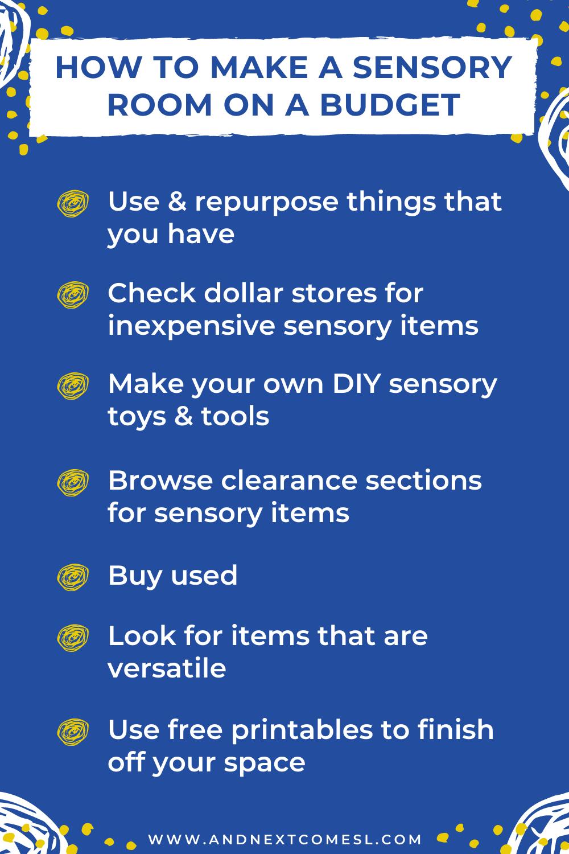 Tips for how to make a DIY sensory room on a budget