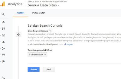 verifikasi google analytics dan google search console