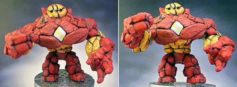 Marvel Golems WIP 23: Hulkbuster Gets Dirty