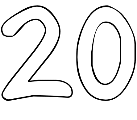 coloring pages numbers 1 20 - numbers to coloring