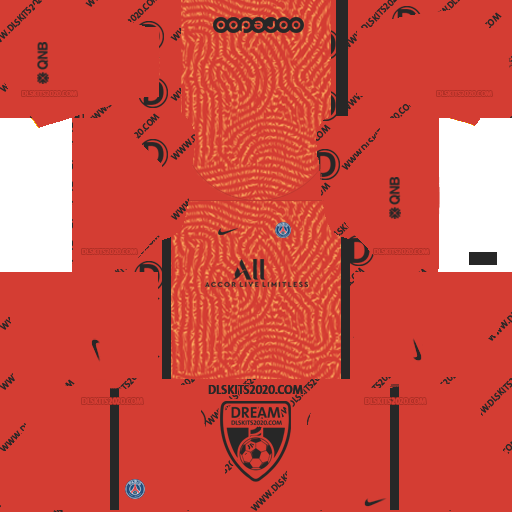 paris saint germain (PSG) Kits 2020-2021 Nike For Dream League Soccer 2019 (Away Goalkeeper)