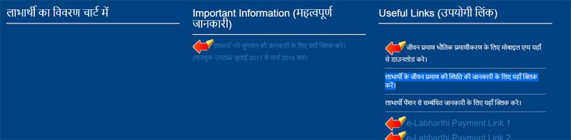 eLabharthi जीवन प्रमाण की स्थिति की जानकारी