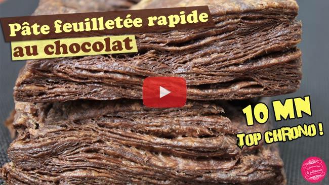 vidéo de pate feuilletée facile au chocolat