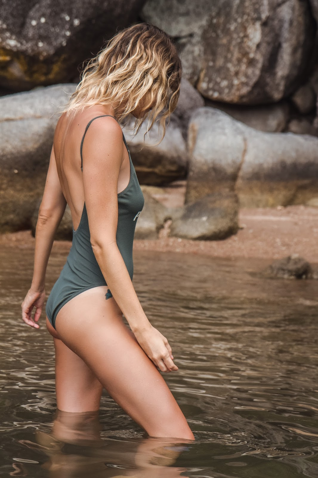 Blogger Alison Hutchinson in Spell Designs Panther Swimsuit